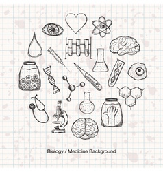 Biology or Medicine Science Background vector