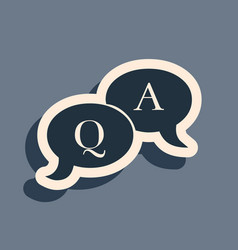 Black question and answer mark in speech bubble vector