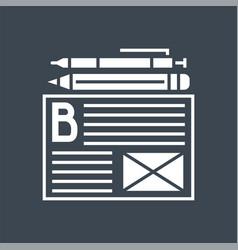 Blogging services glyph icon vector