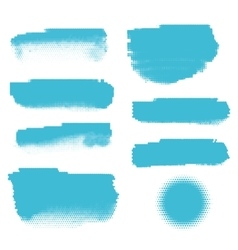 Blue halftone banners vector image
