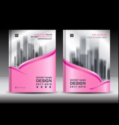 Brochure template layout pink cover design flyer vector