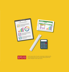 business item in flat style workplace design vector image