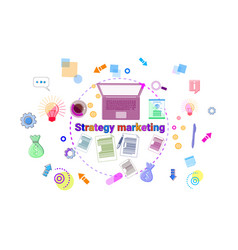 Business marketing strategy development concept vector