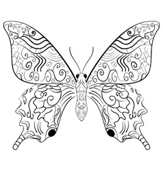 Butterfly Zentangle style vector image
