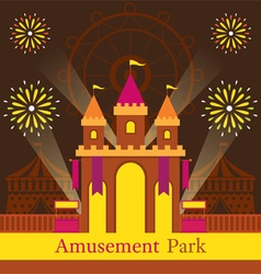 Castle Amusement Park Carnival Fun Fair vector