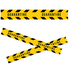 Caution quarantine and warning tape set of vector