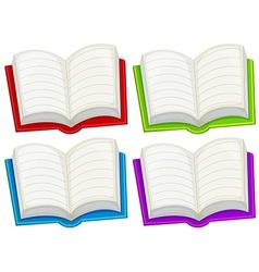 Colorful empty books vector