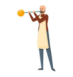 Craft glass blower icon cartoon style vector