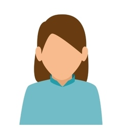 cute woman character icon vector image
