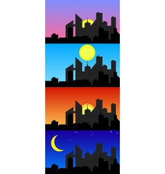 Day Time City vector image