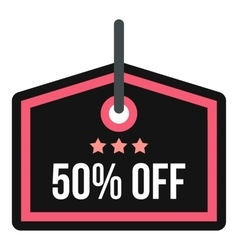 Discount tag icon flat style vector