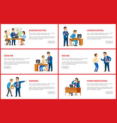 dismissal and task job interview worker control vector image