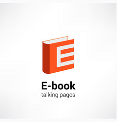 e -book icon concept vector image