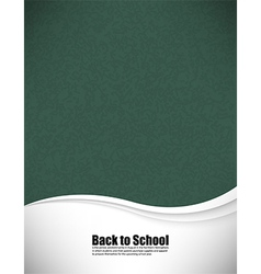 Empty realistic black board school in format vector
