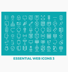 Essential mixed web icons vector
