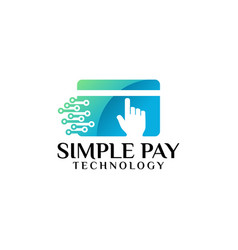 fast payment logo template designs vector image