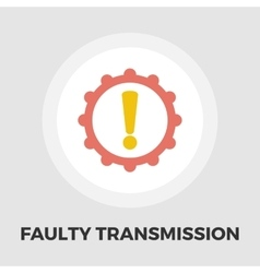 Faulty transmission flat icon vector