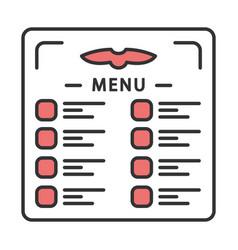 Flight menu color icon vector
