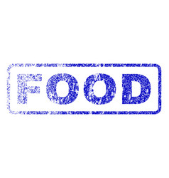 food rubber stamp vector image