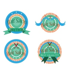 Four labels vector image