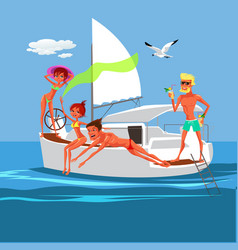 friends having fun on sunny summer day vector image