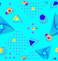 geometric seamless turquoise pattern abstract vector image