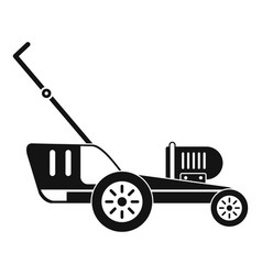 grass cutter icon simple style vector image