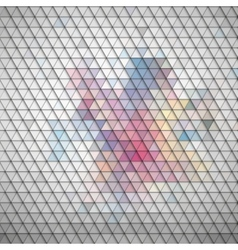 Gray geometric background abstract triangle vector image