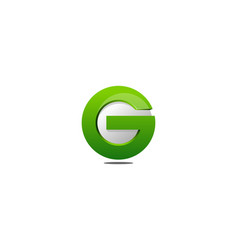 green letter g logo icon design vector image