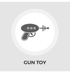 Gun Toy Flat Icon vector