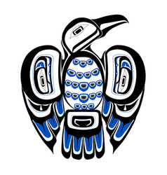 haida bird tattoo vector image