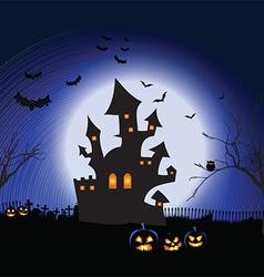 Halloween spooky landscape 1409 vector