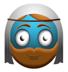 happy man emoji vector image