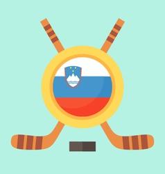 Hockey in Slovenia vector image