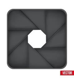 Icon camera aperture lens vector