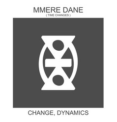 Icon with african adinkra symbol mmere dane vector