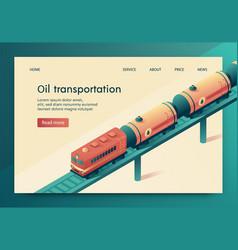 is written oil transportation vector image