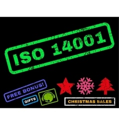 ISO 14001 Rubber Stamp vector