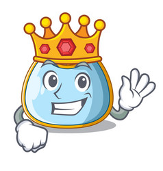 King baby bib isolated on the mascot vector