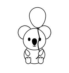 koala with balloon vector image