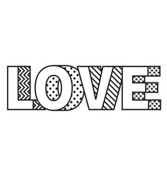 love word made modern style vector image