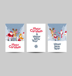 merry christmas lettering design template set vector image