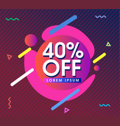 Modern colored background with sale design vector