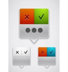 Modern dialog box icon vector image