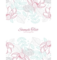 Modern line art florals vertical double vector