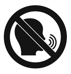 No speaking icon simple style vector