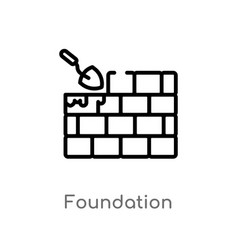 Outline foundation icon isolated black simple vector