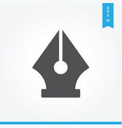 pen tool icon simple sign for web site and mobile vector image