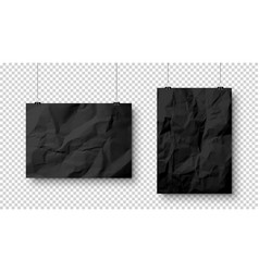 realistic blank hanging paper sheets in a4 size vector image