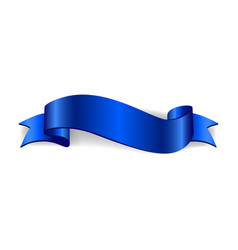 Ribbon banner satin blank collection vector